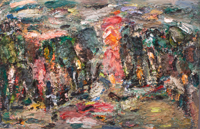 Guy Departe - paysage mauve